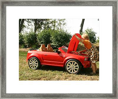 Framed Print featuring the photograph First Car by Sylvia Hart