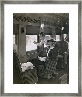 First Class Passengers In An Framed Print by Everett