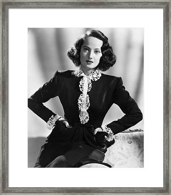 First Comes Courage, Merle Oberon, 1943 Framed Print by Everett