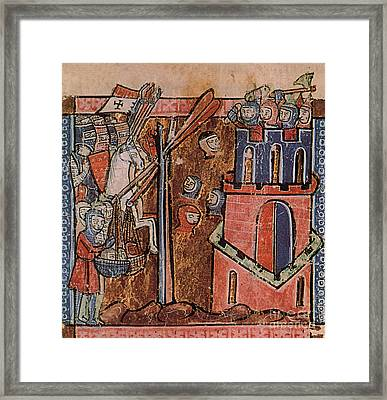 First Crusade Germ Warfare Siege Framed Print by Photo Researchers