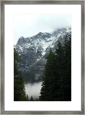 First Day In Glacier Framed Print by Amanda Kiplinger
