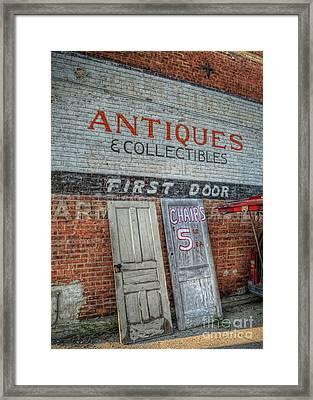 First Door Antiques Framed Print
