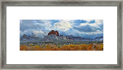 First Dusting Of Snow Framed Print by Dan Turner