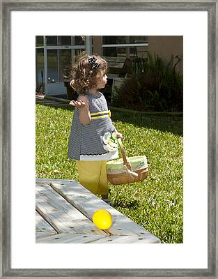 Framed Print featuring the photograph First Easter Egg Hunt by Steven Sparks