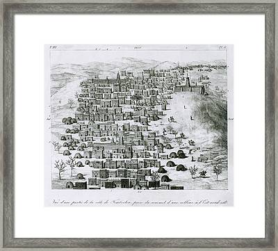 First European Image Of The African Framed Print by Everett