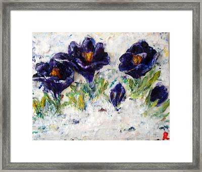 First Flowers Framed Print