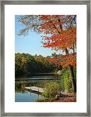 First Glimpse Of Fall Framed Print
