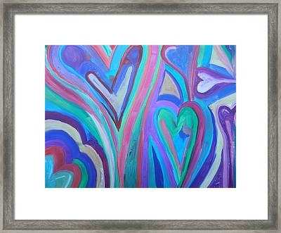 First Hearts Framed Print