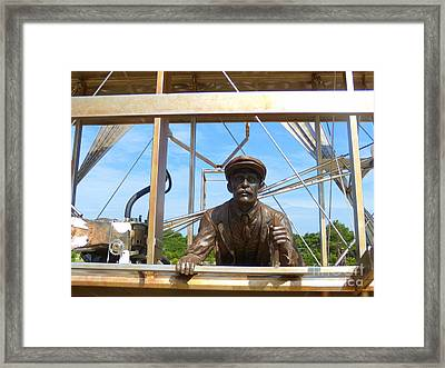 Framed Print featuring the sculpture First In Flight  by Lydia Holly