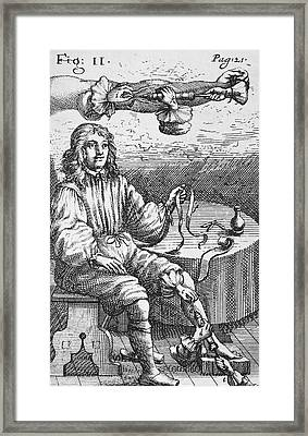 First Intravenous Injection, 17th Century Framed Print by