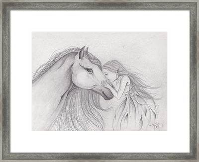 First Kiss Framed Print by Lorelei  Marie