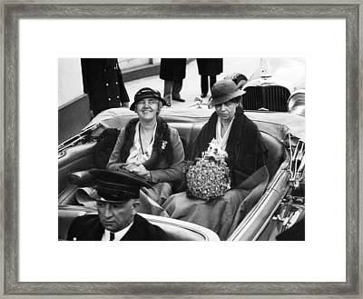 First Ladies Car At The 1933 Framed Print by Everett