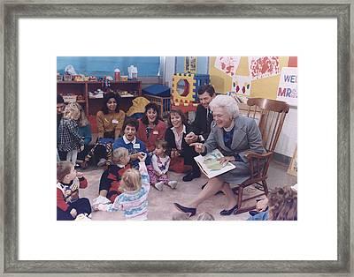 First Lady Barbara Bush And Missouri Framed Print