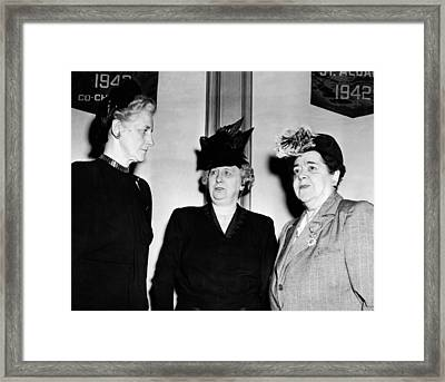 First Lady Bess Truman Attending Framed Print by Everett