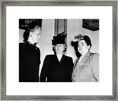 First Lady Bess Truman Attending Framed Print by Everett
