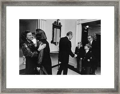 First Lady Betty Ford And Happy Framed Print
