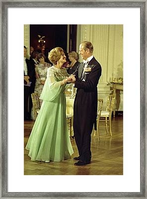 First Lady Betty Ford And Prince Philip Framed Print by Everett