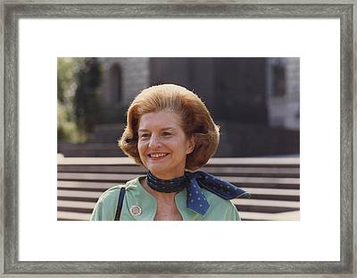 First Lady Betty Ford In Helsinki Framed Print
