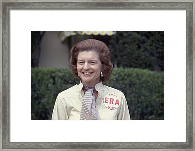 First Lady Betty Ford Sports A Button Framed Print by Everett