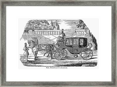 First Lady Carriage, 1851 Framed Print by Granger