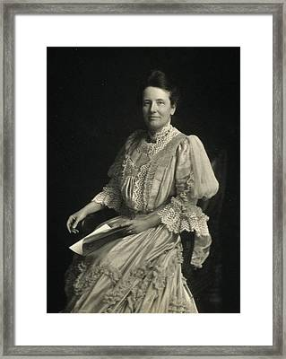 First Lady Edith Kermit Roosevelt, Wife Framed Print by Everett