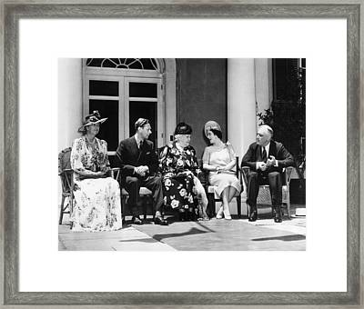 First Lady Eleanor Roosevelt, King Framed Print by Everett