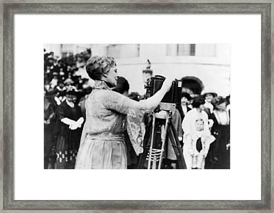 First Lady Florence Harding, Wife Framed Print by Everett