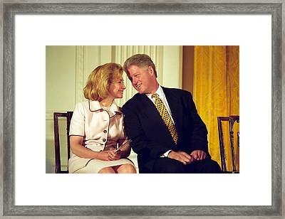 First Lady Hillary Clinton Framed Print by Everett