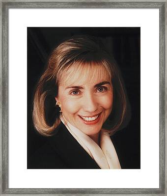 First Lady Hillary Clinton In A 1992 Framed Print