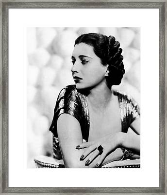 First Lady, Kay Francis, 1937 Framed Print