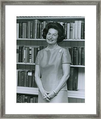 First Lady, Lady Bird Johnson, In 1964 Framed Print