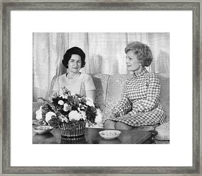 First Lady Lady Bird Johnson Meets Framed Print