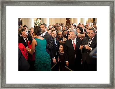 First Lady Michelle Obama Greets Guests Framed Print