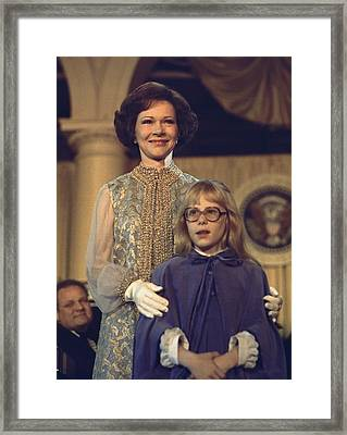 First Lady Rosalynn Carter And 10 Year Framed Print by Everett