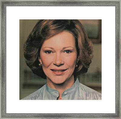 First Lady Rosalynn Carter Framed Print by Everett