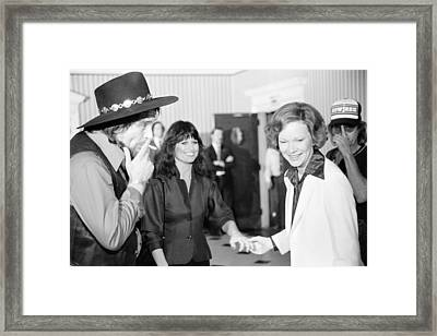 First Lady Rosalynn Carter With Waylon Framed Print by Everett