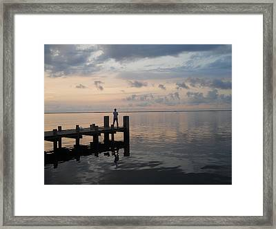 Framed Print featuring the photograph First Light by Clara Sue Beym