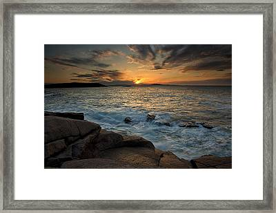First Light Framed Print by Sara Hudock
