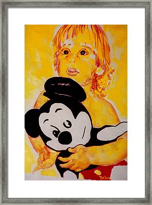 First Mickey Framed Print