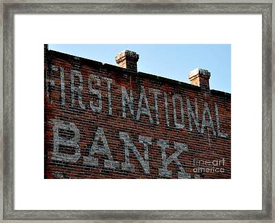 First National Bank Framed Print by Tanya  Searcy