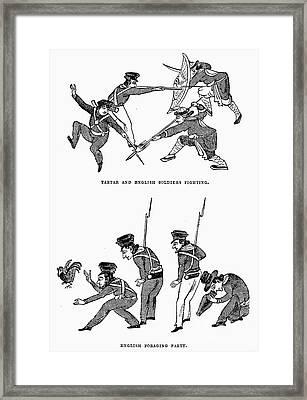 First Opium War: Soldiers Framed Print by Granger