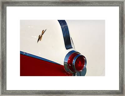 Framed Print featuring the photograph First Pontiac V8 1955 by John Schneider