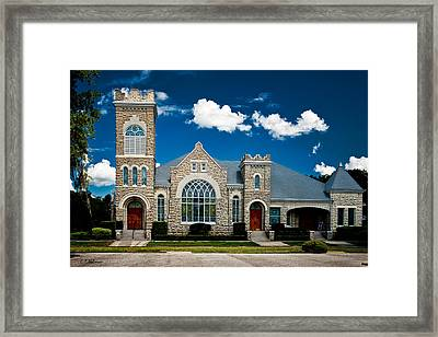 First Presbyterian Church Of Eustis Framed Print by Christopher Holmes
