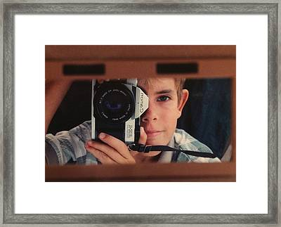 First Self-portrait Framed Print by David Paul Murray