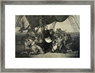 First Sight Of The New World, 1492 Framed Print