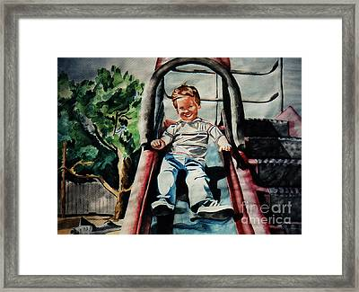 First Slide Framed Print