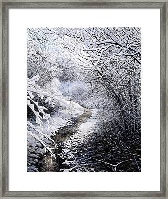 First Snow Framed Print by David Bottini