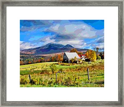 First Snow Framed Print by John Selmer Sr