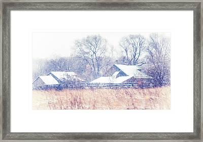 First Snow. Village Framed Print