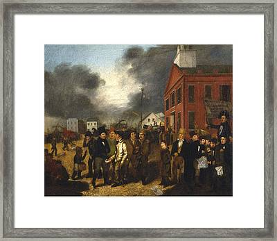 First State Election In Detroit - Michigan Framed Print
